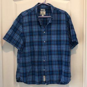 JoS. A. Bank XXL plaid short sleeve tailor fit EUC